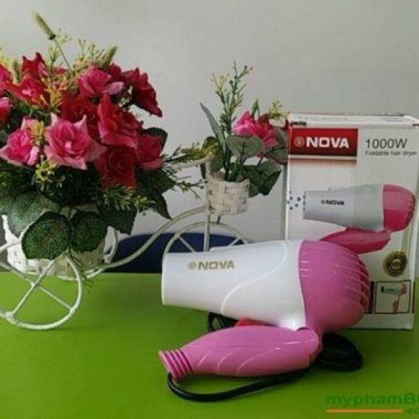 Máy sấy tóc Nova 1290 mini gấp gọn 1000W có 2 chế độ thích hợp để mang đi du lịch, máy sấy tóc mini công suất cực mạnh, máy sấy tóc du lịch, máy sấy tóc cao cấp, máy sấy tóc mini du lịch chất lượng
