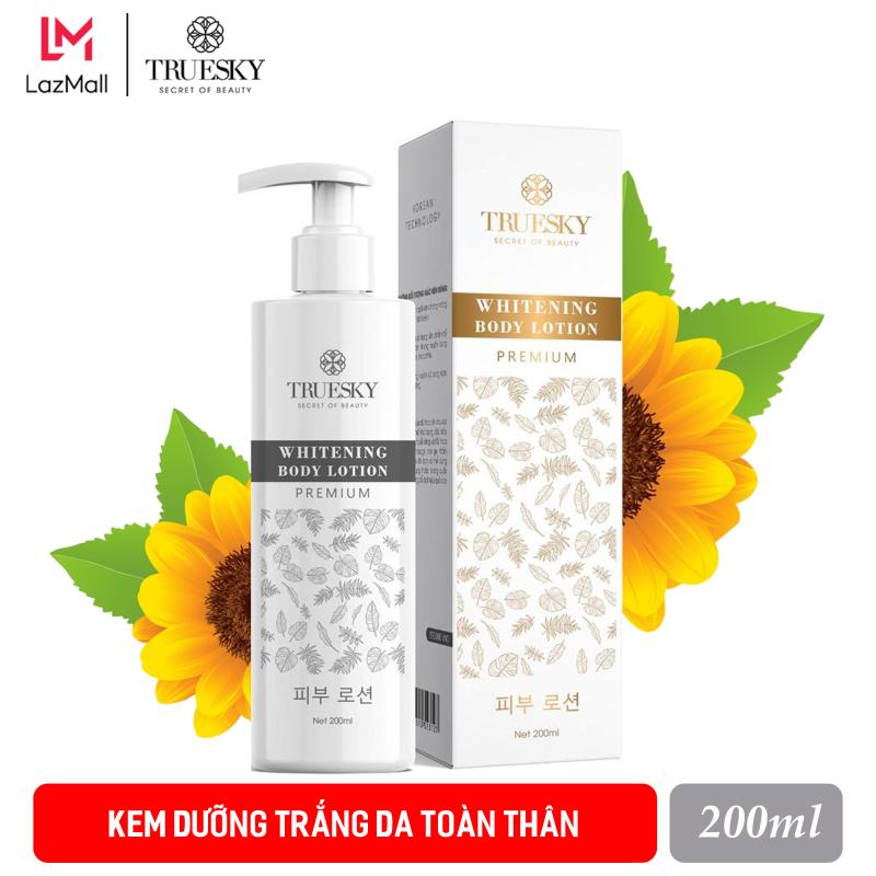Kem dưỡng trắng da toàn thân Truesky Premium dạng lotion thẩm thấu nhanh phiên bản cao cấp 200ml - Whitening Body Lotion