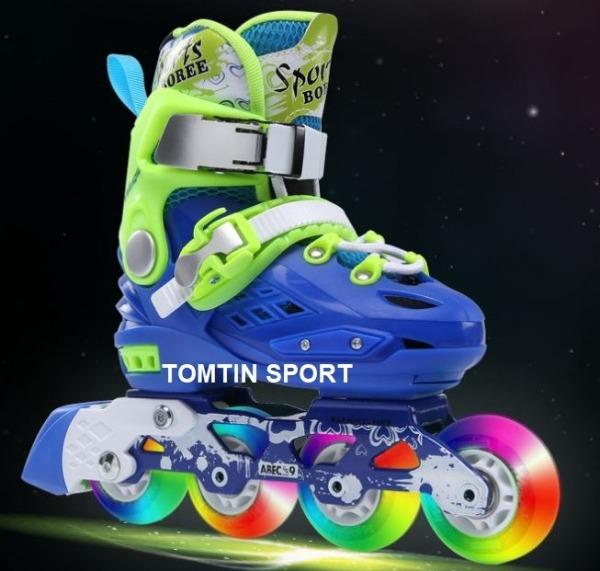 Mua Giày patin trẻ em tặng kèm bảo hộ chân tay Sport Boree 8 bánh phát sáng với chất liệu cao su trượt mượt và êm cho bé trai bé gái, khung càng chắc chắn giúp trượt kỹ thuật cao, bốt patin tháo rời dễ dàng vệ sinh