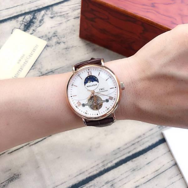 Thời trang nam cực chất sale khủng khi mua đồng hồ nam dn1200iwc15 dây da máy cơ 42mm fullbox bán chạy