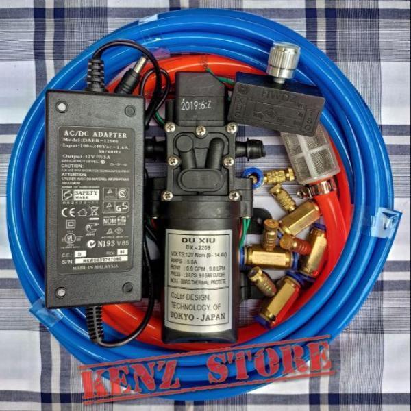 Combo phun sương giá rẻ máy+nguồn+điều tốc+5béc+10m dây+lọc nước