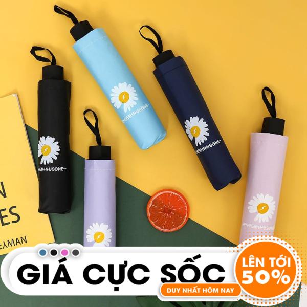 Giá bán Ô dù gấp gọn, ô che mưa, ô gấp gọn hình hoa cúc, phong cách Hàn Quốc- Giao màu ngẫu nhiên