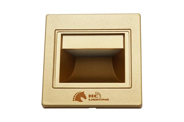 Đèn âm cầu thang CẢM ỨNG 1,5W mặt vàng/trắng - Đèn âm tường, bậc cầu thang ánh sáng trung tính HC LIGHTING