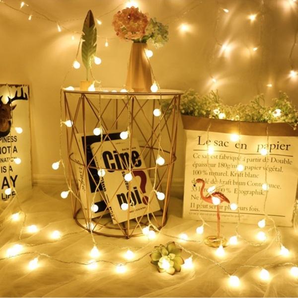 [Dùng cổng USB] Đèn LED Trang Trí Bóng Tròn Cherry Ball Sử Dụng Cổng USB 5v dùng Trang Trí Phòng ngủ, Phòng khách, Sân vườn, Ngoài trời, Nhà Cửa, Noel, Lễ Tết   Kyto Shop