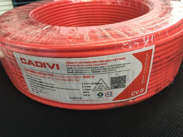 Dây điện Cadivi 20 mét dây đơn 2,5mm2