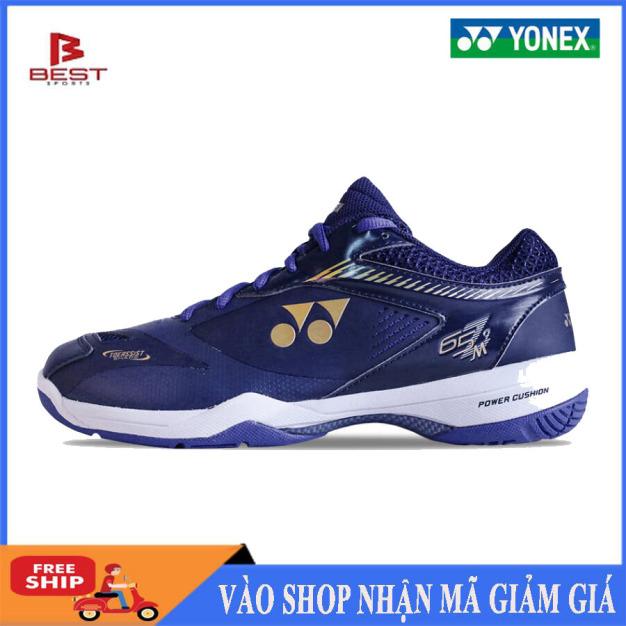 Giày thể thao, giày cầu lông YONEX,dành cho nam, màu xanh sẫm, chơi được sân bê tông,chống trơn trượt, giày bóng chuyền giá rẻ