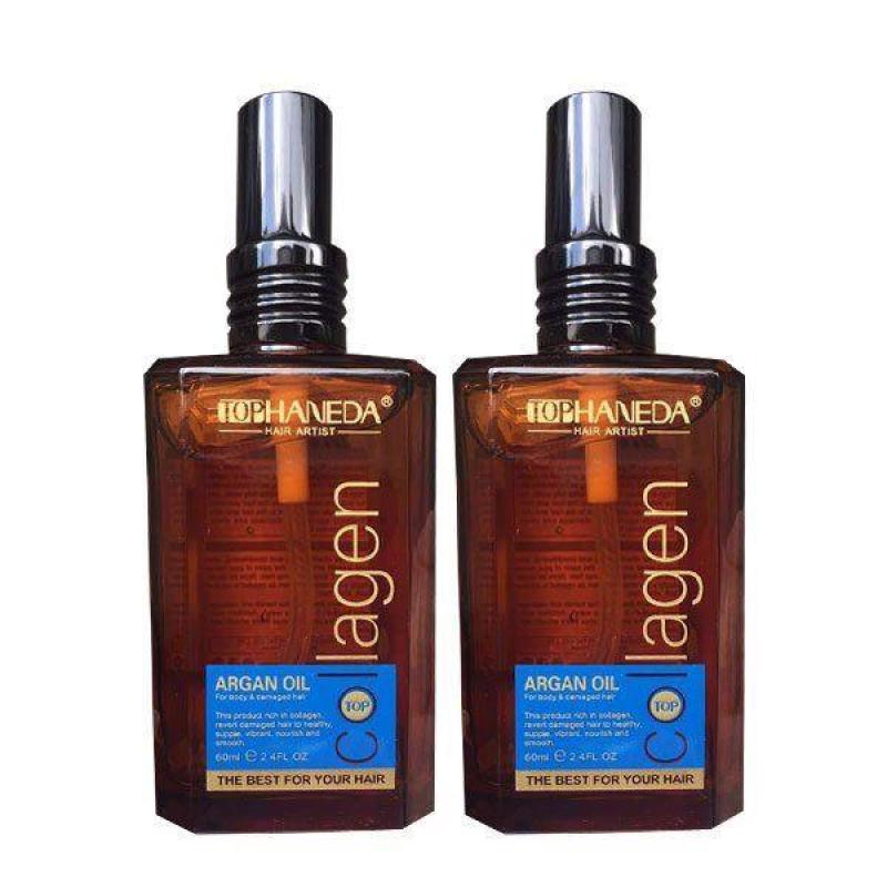 Dầu Dưỡng Tóc Bóng Mượt Haneda Collagen Argan Oil 60ml