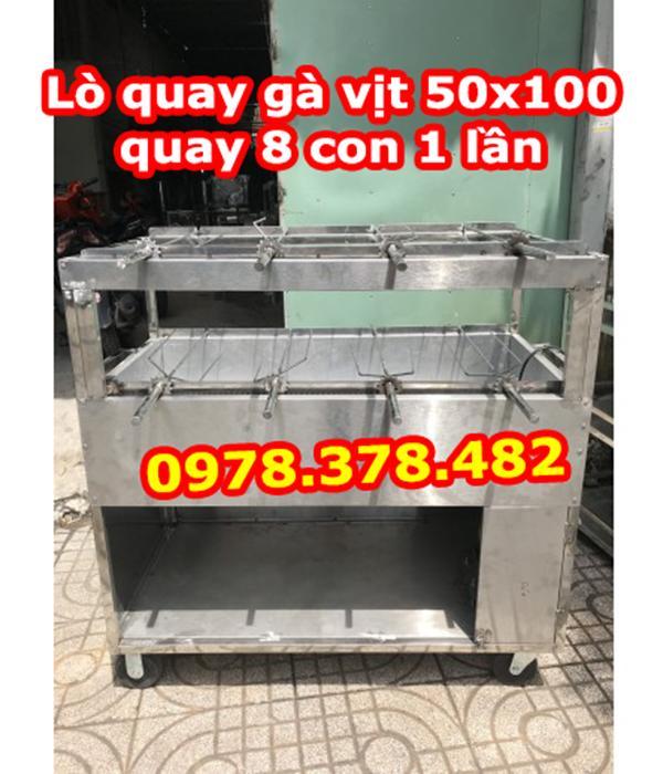 Lò quay gà vịt Inox 8 con 550x1000mm
