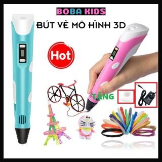 [BẢO HÀNH 12 THÁNG] Bộ bút vẽ 3D thông minh sáng tạo độc đáo cho bé giá rẻ kèm sợi mực,tặng kèm nguồn và giá thumbnail
