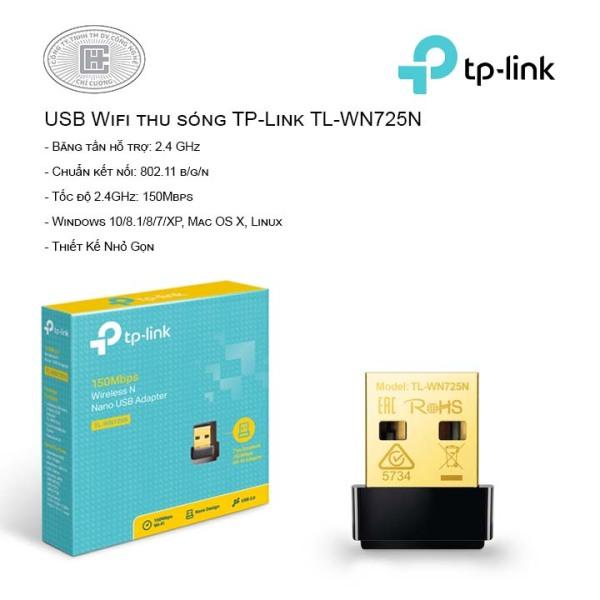 Bảng giá Thiết bị thu sóng wifi tp-link tl-wn725n tốc độ 150mbps cam kết hàng đúng mô tả chất lượng đảm bảo đa dạng mẫu mã và kích cỡ Phong Vũ