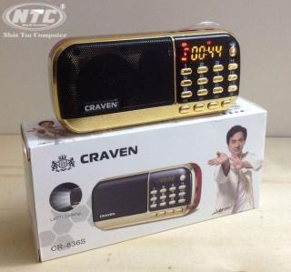 [Nhập ELAPR21 giảm 10% tối đa 200k đơn từ 99k]Loa đa năng Craven CR-836s hỗ trợ FM Thẻ nhớ USB Tai nghe Đèn Pin - dung lượng 4400mah (Đen đỏ) - Nhất Tín Computer thumbnail