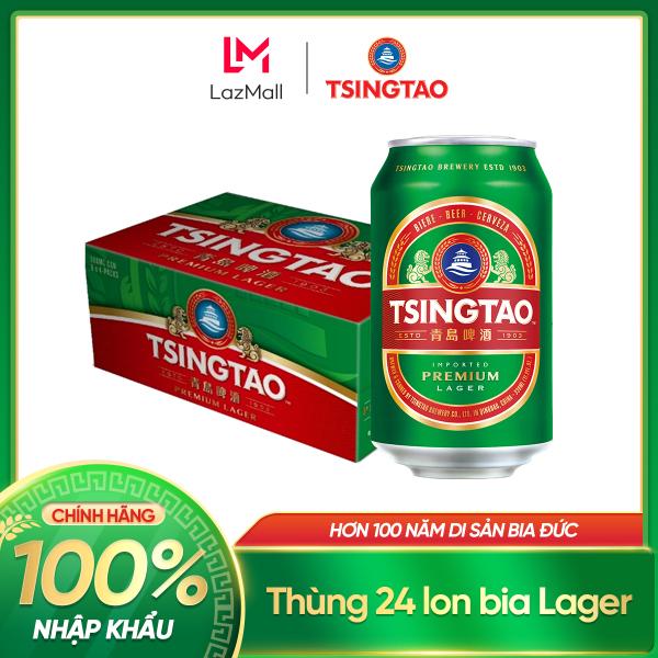 Thùng 24 lon Bia Tsingtao Classic Lager Đậm Vị 330ml - Nhập Khẩu 100% Chính Hãng