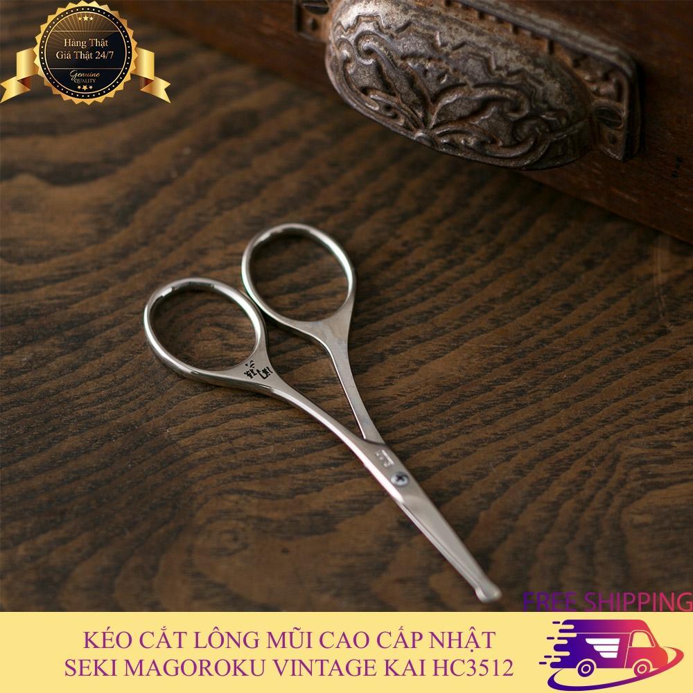 Kéo cắt lông mũi cao cấp Nhật  SEKI MAGOROKU KAI HC3512 tỉa lông mũi nhập khẩu Nhật Bản, thích hợp dùng cho cả nam và nữ, đầu tròn an toàn khi sử dụng, thiết kế nhỏ gọn mang theo du lịch, bảo hành 1 đổi 1 tốt nhất