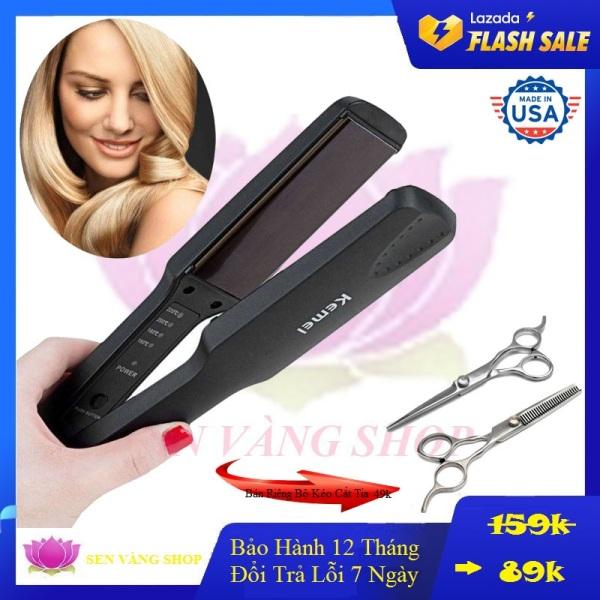 Máy ép tóc - máy là tóc cao cấp 4 mức điều chỉnh nhiệt kemei 329 - máy duỗi tóc - máy làm tóc mini kemei 329