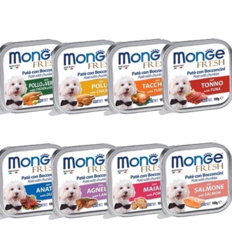 Pate Monge cho chó hộp bạc 100g