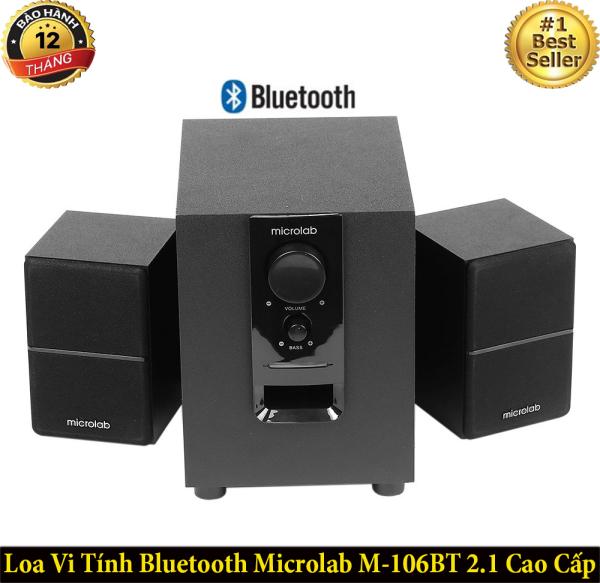 Bảng giá [ TOP BÁN CHẠY ] Loa Vi Tính Bluetooth Microlab M-106BT 2.1 Cao Cấp, Công Suất Lớn, Loa Siêu Trầm, Bass Siêu Khủng, Nghe Nhạc Hay, Loa Chơi Game, Xem Phim Sống Động, Âm Thanh Trong Trẻo, Bluetoth 4.0 Siêu Xa, Dùng Cho Laptop, PC, Điện Thoại Phong Vũ