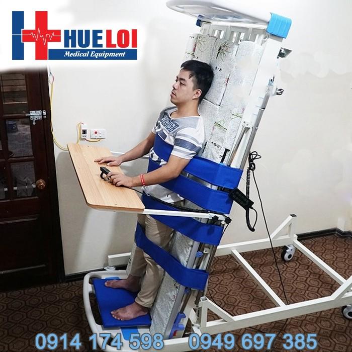 Giường y tế đa năng có tính năng tập đứng điều khiển hoàn toàn bằng điện - Giường tập đứng phục hồi chức năng