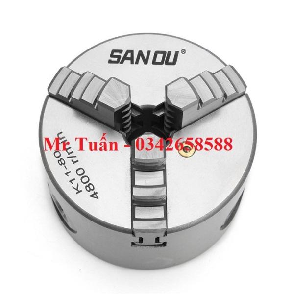 Mâm cặp 3 chấu tự định tâm đường kính 80mm model K11-80 mâm cặp dùng cho máy tiện mini