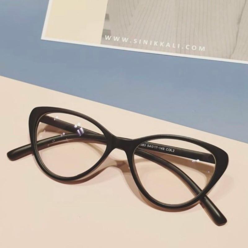 Giá bán Gọng kính mắt mèo cat-eyes, nhựa dẻo 2383