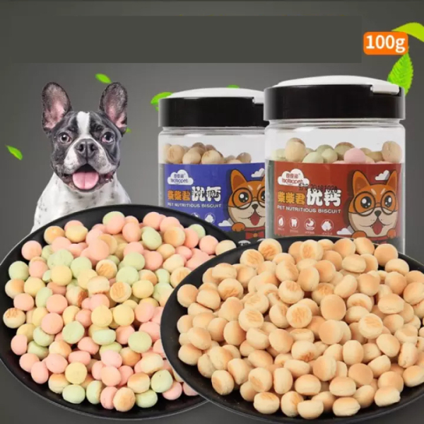 Hộp bánh quy sữa dinh dưỡng cho thú cưng 100g - Pets Time