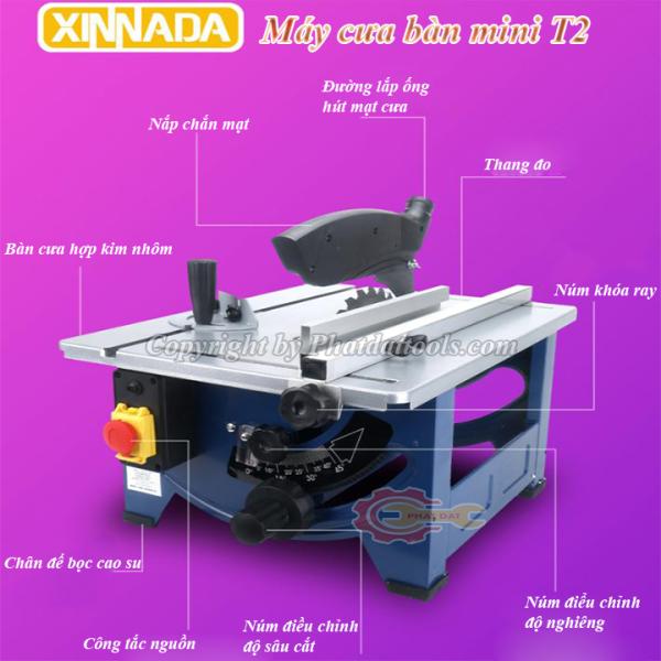Máy cưa bàn trượt mini  - Máy chế biến gỗ XINNADA T2-Công suất 1800W