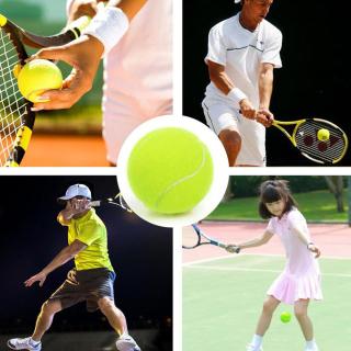 Bóng Tập Tennis Cao Su 63 Mm Chống Cắn Màu Vàng Huỳnh Quang, Đồ Chơi Cho Chó Cưng thumbnail