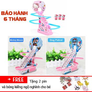 Bộ Đồ Chơi Cầu Trượt Leo Thang Có Nhạc Dùng Pin-Mô hình leo cầu thang đồ chơi trẻ em có nhạc đèn thumbnail
