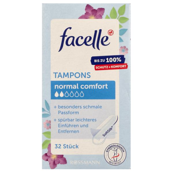 Tampon Facelle - Băng vệ sinh Tampon Facelle Normal Comfort 2 giọt 32st - Băng vệ sinh dạng nút - Nội địa Đức giá rẻ
