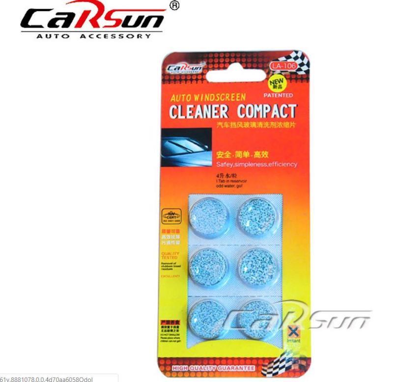 Vỉ 6 viên sủi nước rửa kính xe siêu sạch Carsun