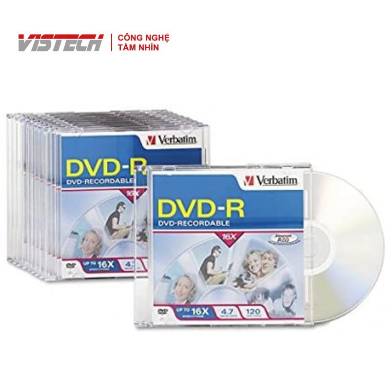 Bảng giá Đĩa Verbatim DVD-R 4.7GB 16X 10k SC Phong Vũ