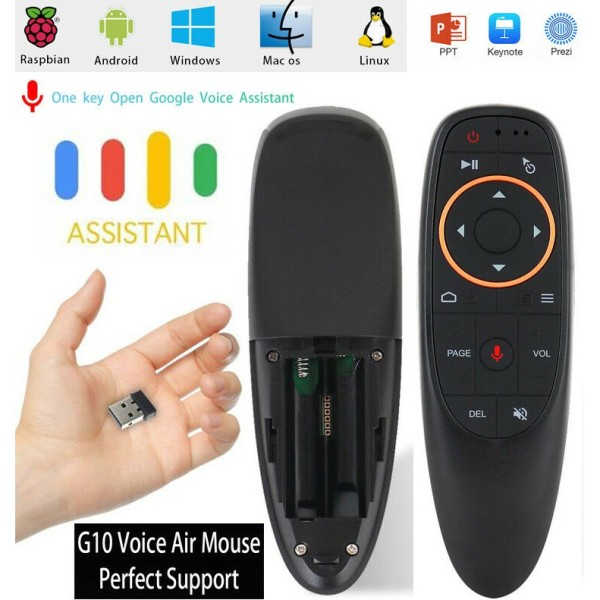 Chuột bay điều khiển giọng nói G10s học lệnh các loại điều khiển dùng cho android box smart tivi