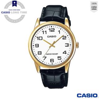 [Ủy Quền Bởi Casio Anh khuê] Đồng hồ nam dây da Casio MTP-V001GL-7BUDF mặt trắng , kim vàng - Tuổi Thọ Pin 3 Năm- Chống Nước , đồng hồ nam , đồng hồ kim , đồng hồ nữ , đồng hồ chống nước thumbnail