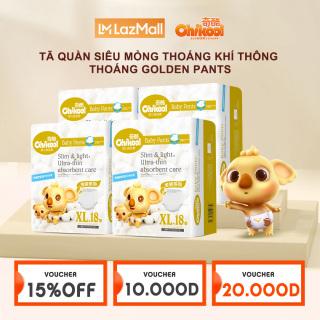 Chikool Combo 3 Tã quần siêu mỏng êm ái thoáng mát size L60 XL54 XXL48 hàng chính hãng cho bé thumbnail