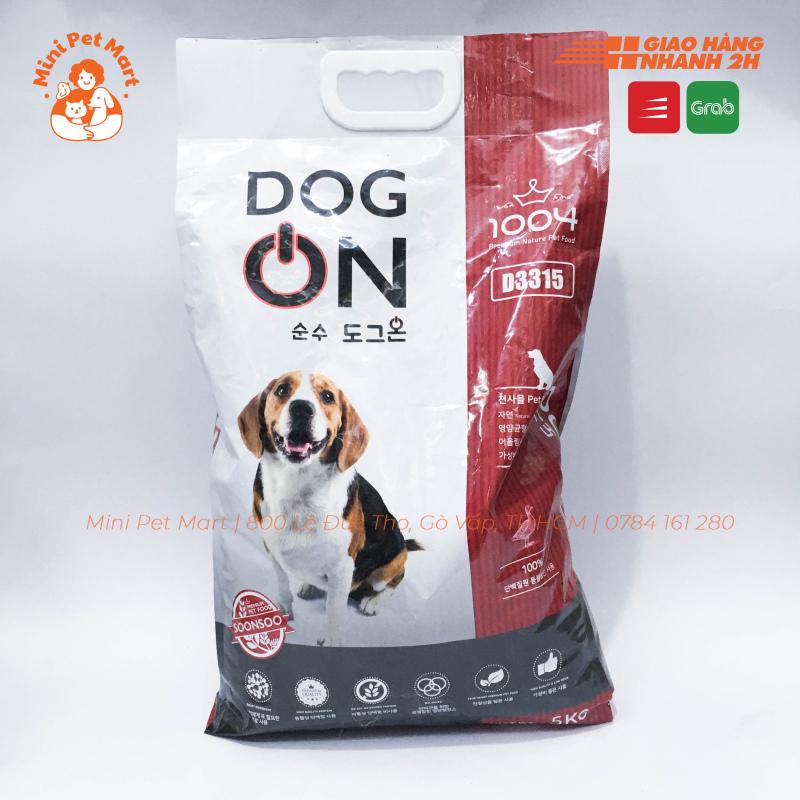 [5kg] Thức ăn hạt cho chó con và chó lớn DOG ON 5kg
