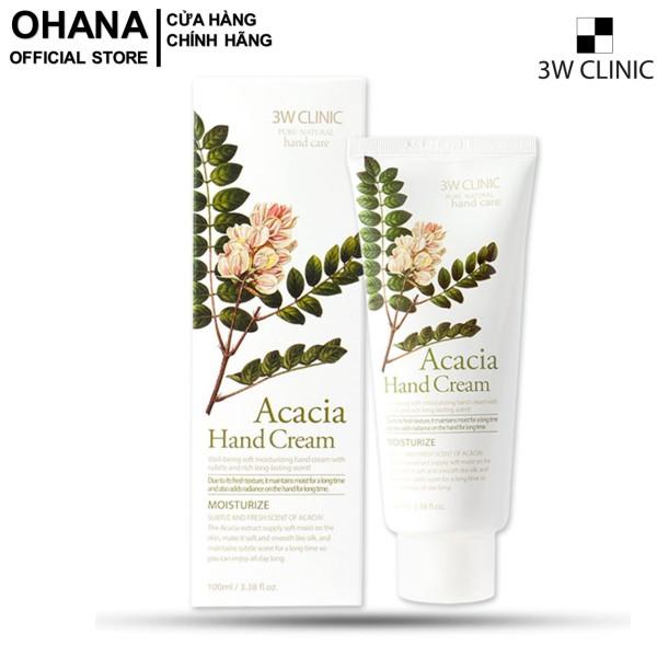 Kem Dưỡng Da Tay Acacia 3W Clinic Acacia Hand Cream 100ml
