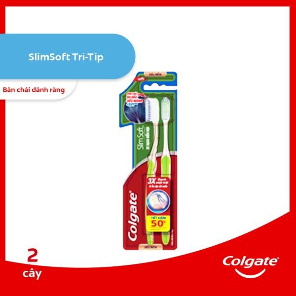 Bộ đôi bàn chải đánh răng Colgate Tri tip sạch mềm mịn cao cấp