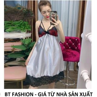 Đồ Bộ Mặc Nhà Vải Phi Bóng Mềm Mại, Mát Mẻ, Thời Trang - BT Fashion (Phi- Ren Lưng 06) thumbnail
