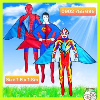 MUA 1 ĐƯỢC 2 DIỀU SIÊU NHÂN NGƯỜI NHỆN, SUPERMAN - TẶNG TAY CẦM THẢ DIỀU DÀI 150 MÉT + TÚI VẢI ĐỰNG DIỀU NHÀ MAY thumbnail