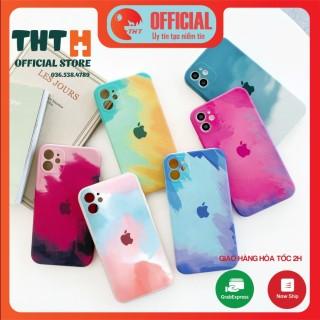 [Viền Vuông IP 12] Ốp lưng loang màu iphone 6 6plus 6s 6splus 7 7plus 8 8plus x xr xs 11 12 pro max plus promax thumbnail