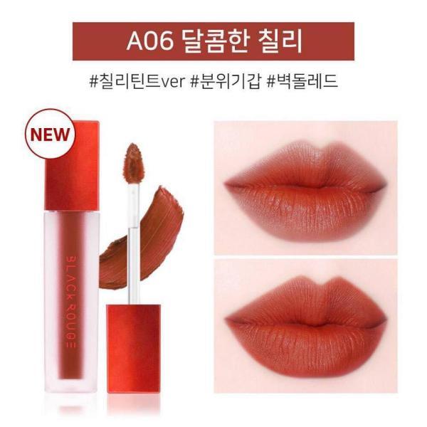 Son Kem Lì Black Rouge Air Fit Velvet Tint màu #A06 Đỏ đất pha cam siêu đẹp giá rẻ