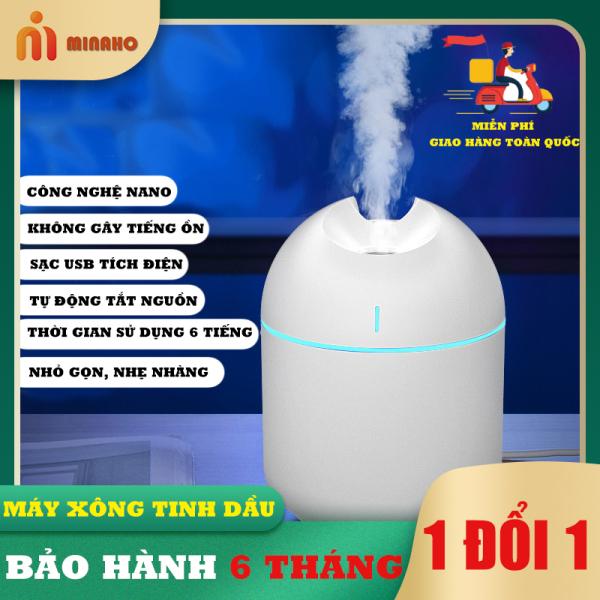 Máy xông tinh dầu Minaho - Máy xông tinh dầu mini, phun sương, giữ ẩm, nhỏ gọn