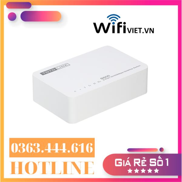 Giá [Hàng chính hãng - Giá ưu đãi] Totolink S505 – Switch 5 Cổng 10/100Mbps | Tư Vấn & Lắp Đặt Bởi WifiViet.VN