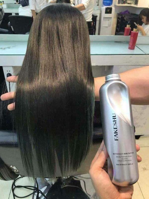 [ Bán lẻ giá sỉ] Chai hấp phủ lụa tóc, sản phẩm chăm sóc phục hồi tóc hư tổn-sản phẩm ủ tóc siêu mềm mượt fakeshu nhập khẩu