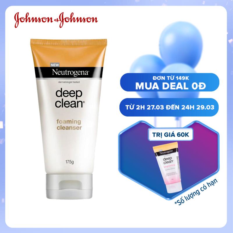 Sữa rửa mặt làm sạch sâu & kiểm soát nhờn Neutrogena Deep Clean foaming cleanser 175g - 101005940
