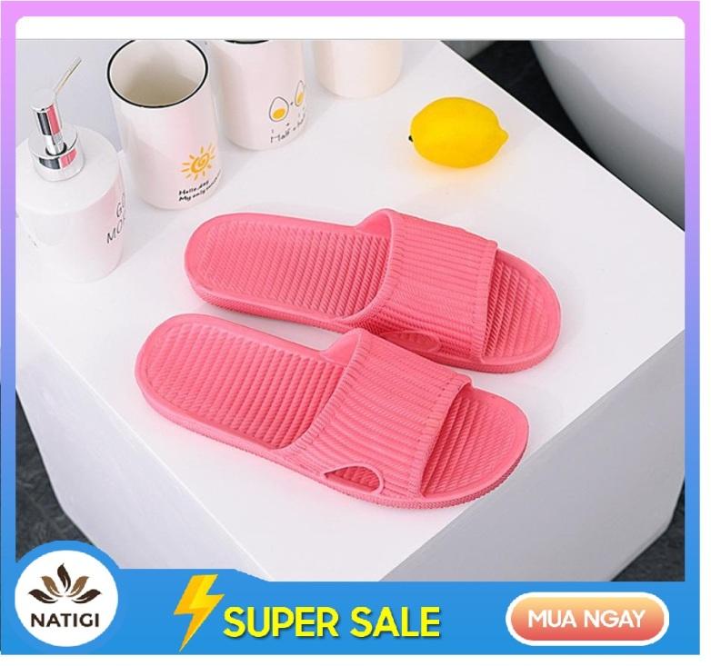 Dép lê xốp nam nữ đi (mang) trong nhà, văn phòng, nhà tắm chất liệu nhựa đúc nguyên khối siêu nhẹ, chống trơn DVS02 giá rẻ