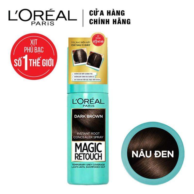 Xịt nhuộm tóc phủ bạc tạm thời LOreal Paris Magic Retouch 75ml cao cấp