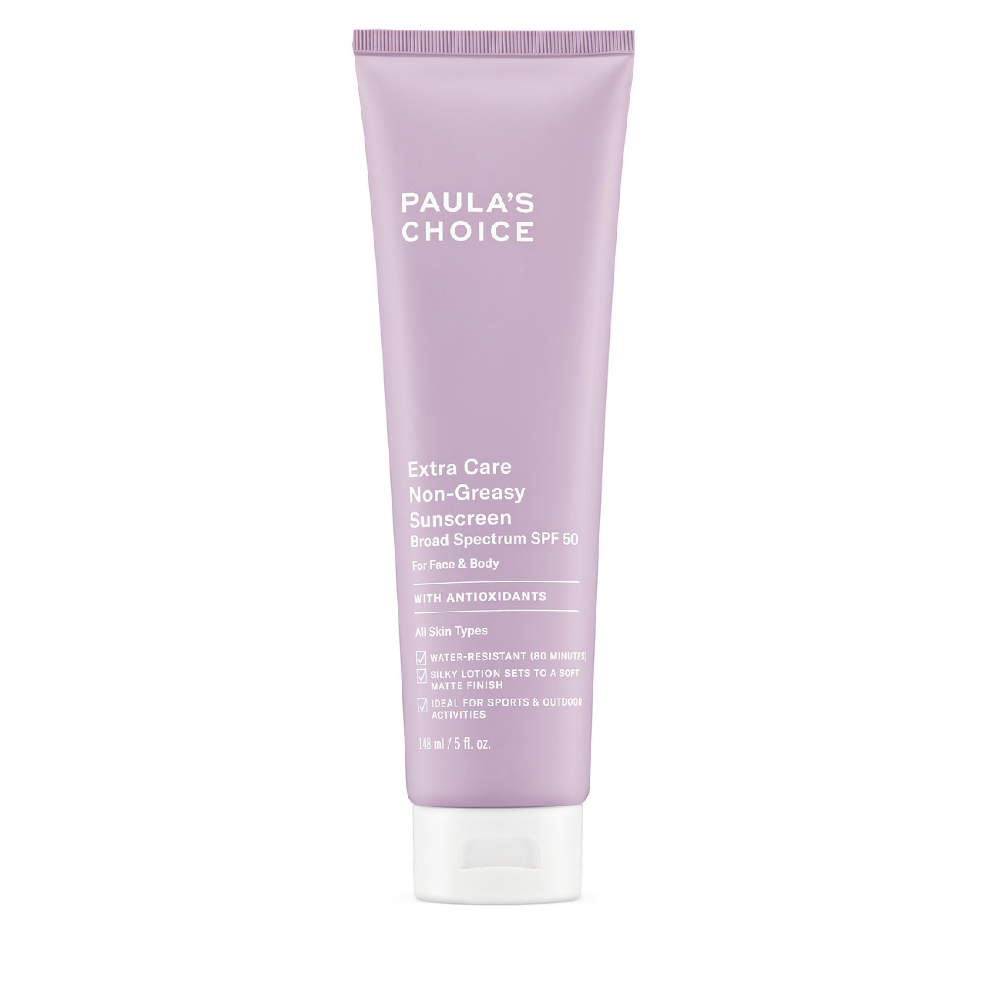 Kem chống nắng siêu chịu nước Paula's Choice Extra Care Non Greasy Sunscreen SPF 50 148ml