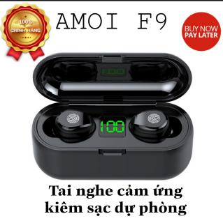 [ Bảo Hành 12 Tháng ] Tai Nghe Bluetooth Amoi F9 Phiên Bản Pro Quốc Tế Tai Nghe Không Dây F9 Công Nghệ Bluetooth 5.0 Kén Sạc 2000 Mah Kiêm Sạc Dự Phòng Nút Điều Khiển Cảm Ứng chống Thấm Nước Chống Bụi Dùng Cho Mọi Điện Thoại thumbnail