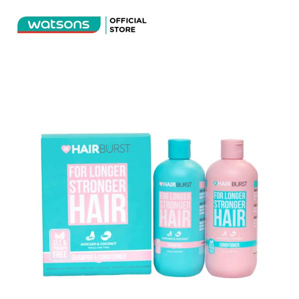 Set Hairburst Gội Xả For Longer Stronger Hair Kích Thích Mọc Tóc (Dầu Gội 350ml + Dầu Xả 350ml) giá rẻ
