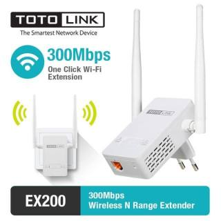 Bộ kích sóng WiFi TOTOLINK EX200 (Trắng) - Hãng Phân Phối Chính Thức tương thích chuẩn IEEE 802.11b g n, tốc độ Wi-Fi lên tới 300Mbps thumbnail